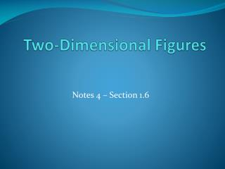 Two-Dimensional Figures