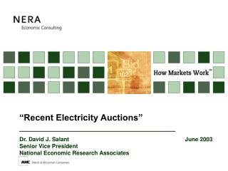 """Recent Electricity Auctions"""