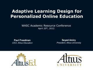 Adaptive Learning Design for Personalized Online Education