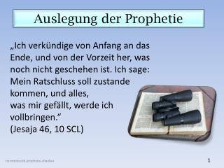 Auslegung der Prophetie