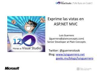 Exprime las vistas en ASP.NET MVC