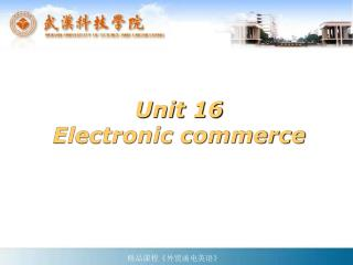 Unit 16 Electronic commerce