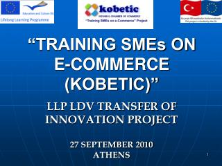 """TRAINING SMEs ON E-COMMERCE (KOBETIC)"""