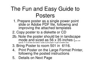 The Fun and Easy Guide to Posters