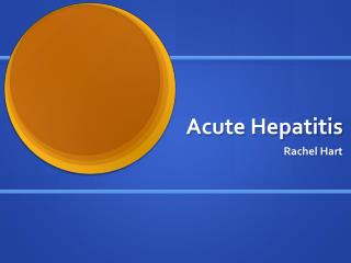 Acute Hepatitis