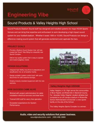 Sound Products & Valley Heights High School