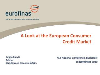 A Look at the European Consumer Credit Market