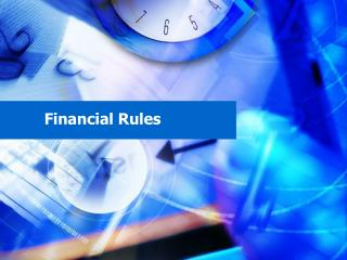 Financial Rules