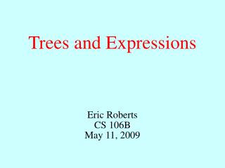 Trees and Expressions