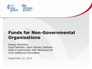Funds for Non-Governmental Organisations