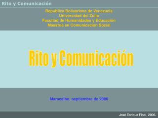 Rep�blica Bolivariana de Venezuela Universidad del Zulia Facultad de Humanidades y Educaci�n