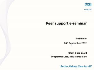 Peer support e-seminar
