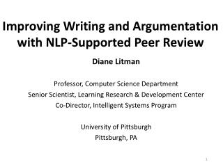 Improving Writing and Argumentation with NLP-Supported Peer Review