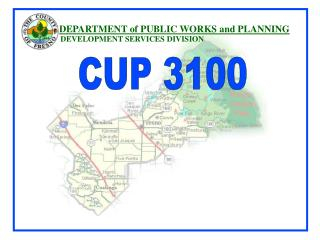 DEPARTMENT of PUBLIC WORKS and PLANNING