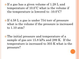 Section 10-3: Gas Laws