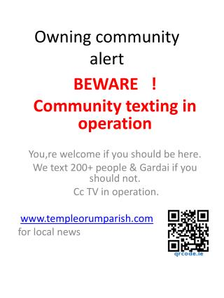 Owning community alert