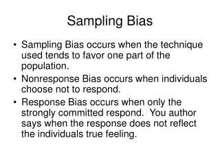 Sampling Bias