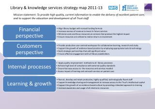 Library & knowledge services strategy map 2011-13