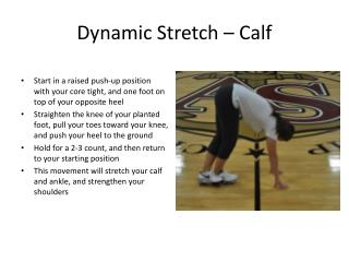 Dynamic Stretch – Calf