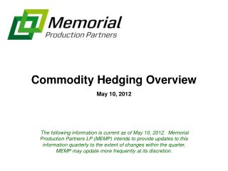 Commodity Hedging Overview