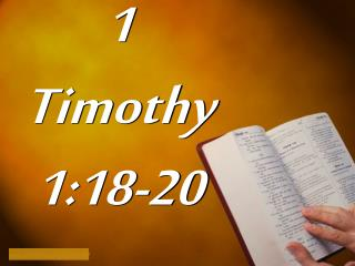 1 Timothy 1:18-20