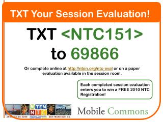 TXT Your Session Evaluation!