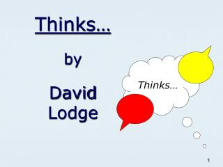 Thinks� by David Lodge
