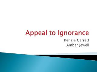 Appeal to Ignorance
