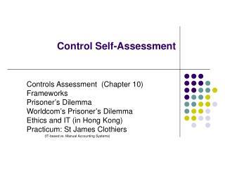 Control Self-Assessment