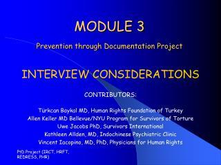 MODULE 3 Prevention through Documentation Project