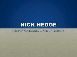 NICK HEDGE
