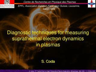 Diagnostic techniques for measuring suprathermal electron dynamics in plasmas