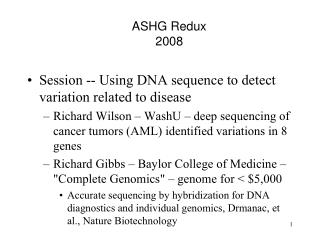 ASHG Redux 2008