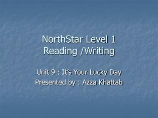 NorthStar Level 1 Reading /Writing