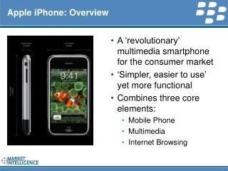 RIM INTERNAL Apple iPhone: Overview