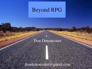 Beyond RPG