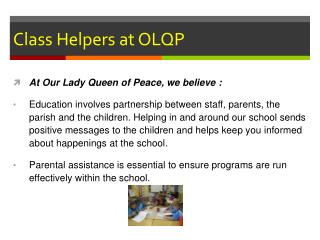 Class Helpers at OLQP