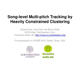 Song-level Multi-pitch Tracking by Heavily Constrained Clustering