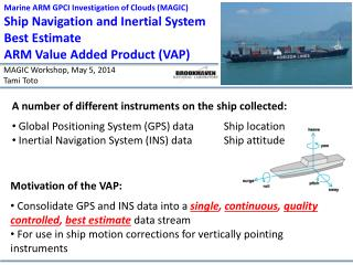 Marine ARM GPCI Investigation of Clouds (MAGIC) Ship  Navigation and Inertial System