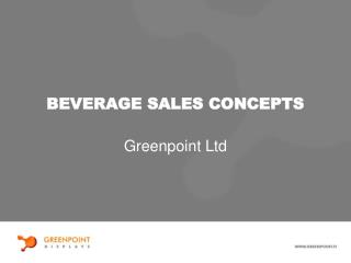 BEVERAGE SALES CONCEPTS