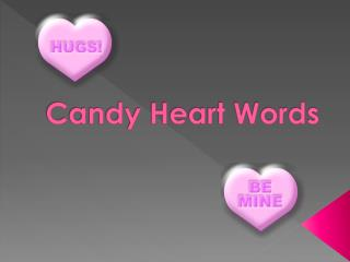 Candy Heart Words