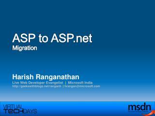 ASP to ASP Migration