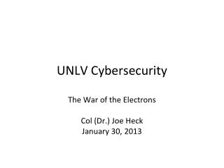 UNLV Cybersecurity