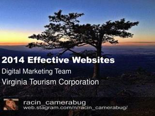 2014 Effective Websites Digital Marketing Team Virginia Tourism Corporation