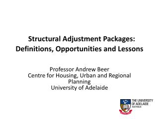 Structural Adjustment Packages: Definitions, Opportunities and Lessons