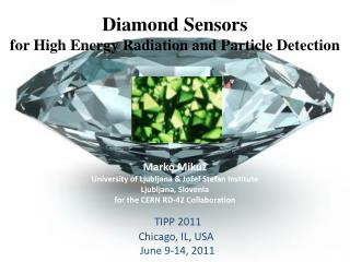 Diamond Sensors for High Energy Radiation and Particle Detection