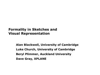 Formality in Sketches and  Visual Representation
