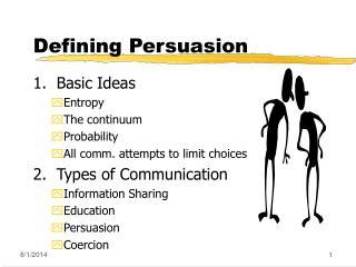 Defining Persuasion