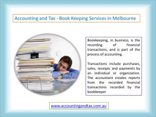 Book Keeping Services in Melbourne