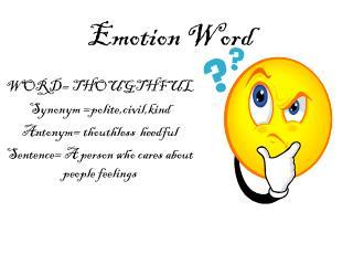 Emotion Word